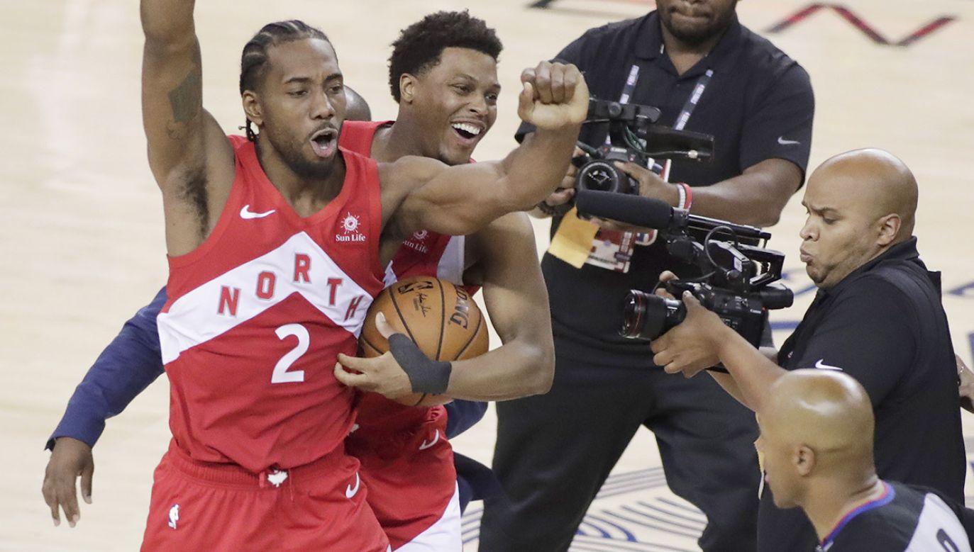 Najbardziej wartościowym koszykarzem (MVP) rywalizacji o mistrzostwo NBA w sezonie 2018/19 został Kawhi Leonard z Toronto Raptors (fot. PAP/EPA/MONICA M DAVEY)