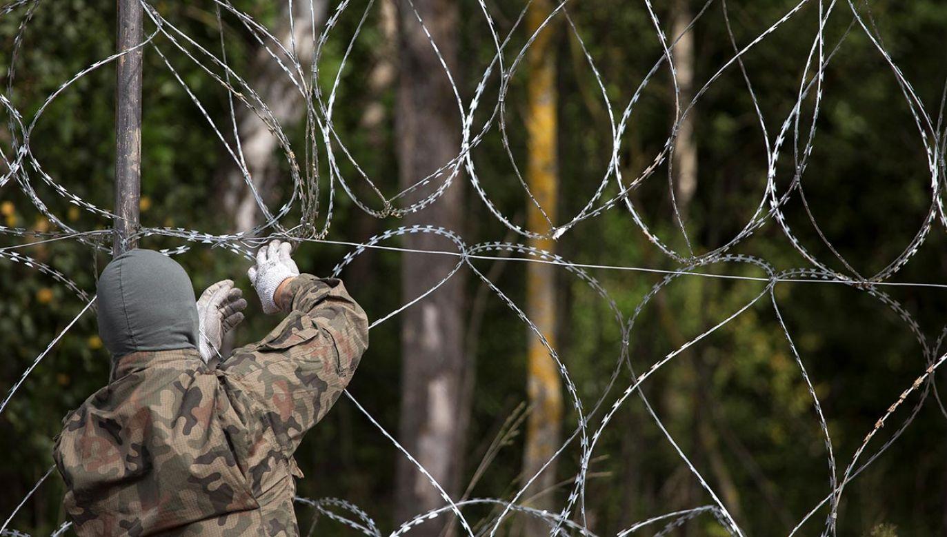 Kretschmer opowiada się za umocnieniem granicy zewnętrznej UE z Białorusią (fot.  Maciej Luczniewski/NurPhoto via Getty Images)