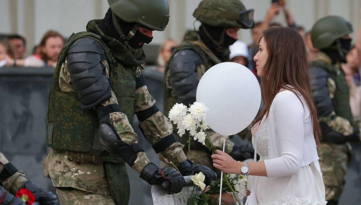 Protesty na Białorusi nie ustają (fot.Natalia Fedosenko\TASS via Getty Images)