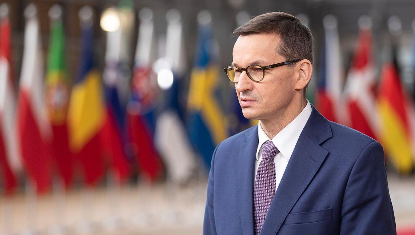Mateusz Morawiecki (fot. Thierry Monasse/Getty Images)