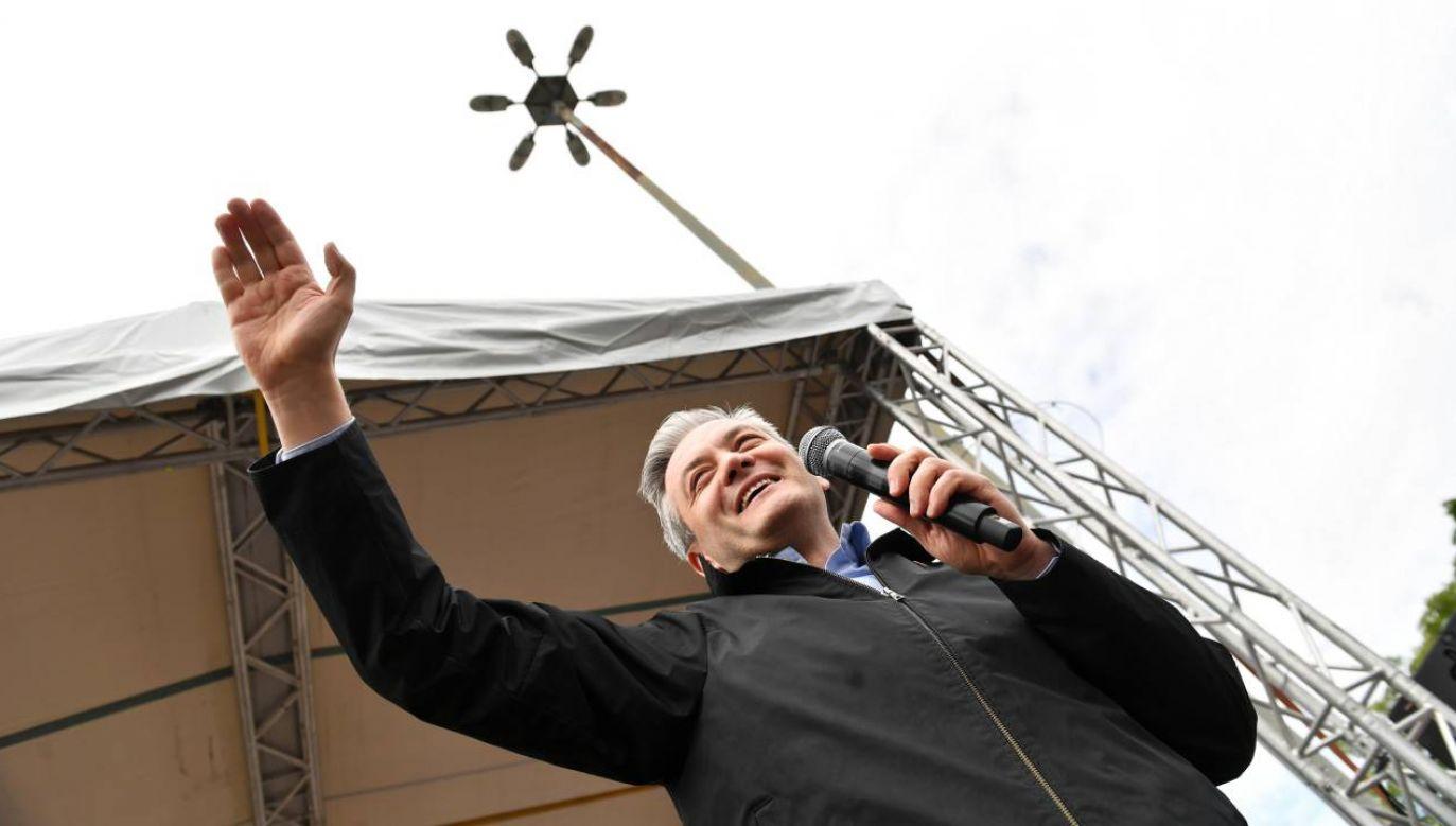 Kolejne spotkania z kandydatem lewicy (fot.PAP/Grzegorz Michałowski)