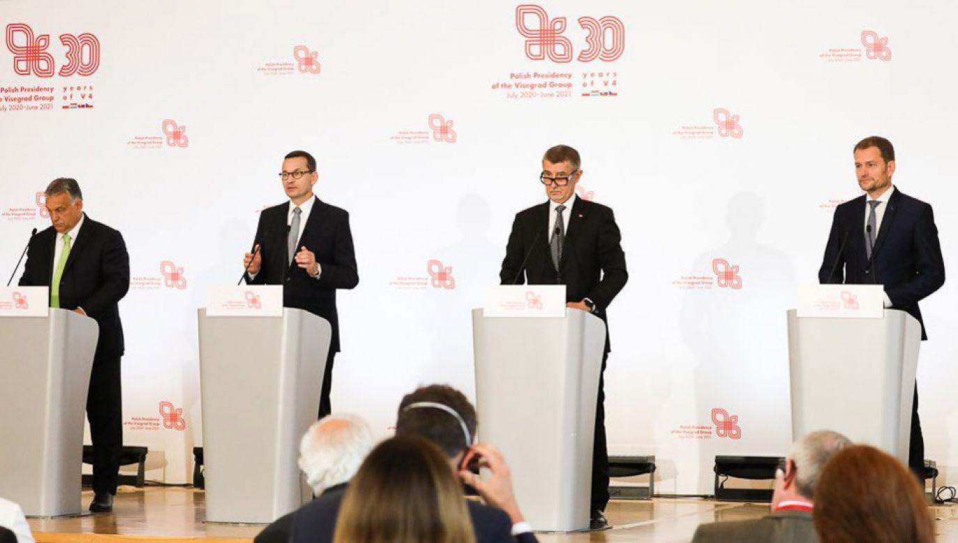 W Warszawie odbył się szczyt premierów państw V4 (fot. KPRM/Krystian Maj)