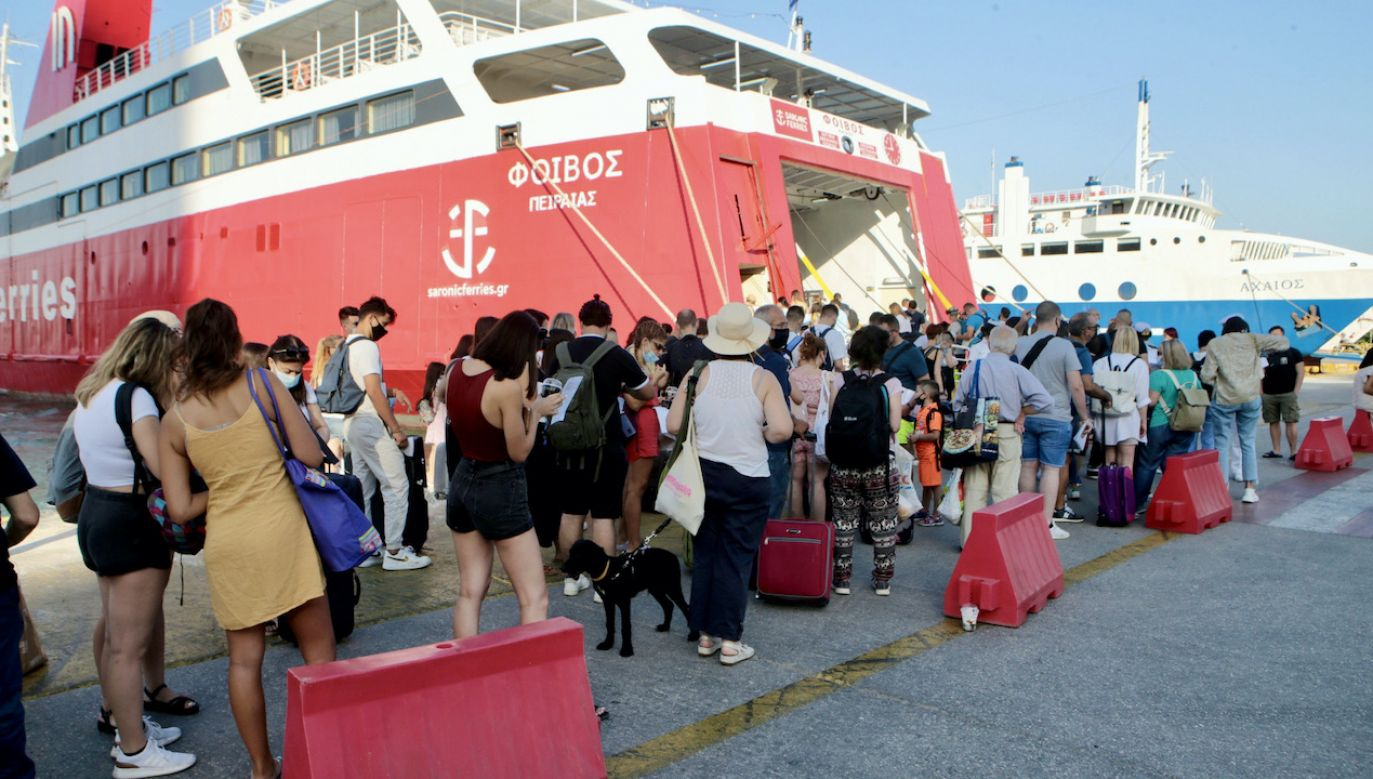 ECDC odradza podróże na greckie południowe wyspy (fot. PAP/EPA/PANTELIS SAITAS)