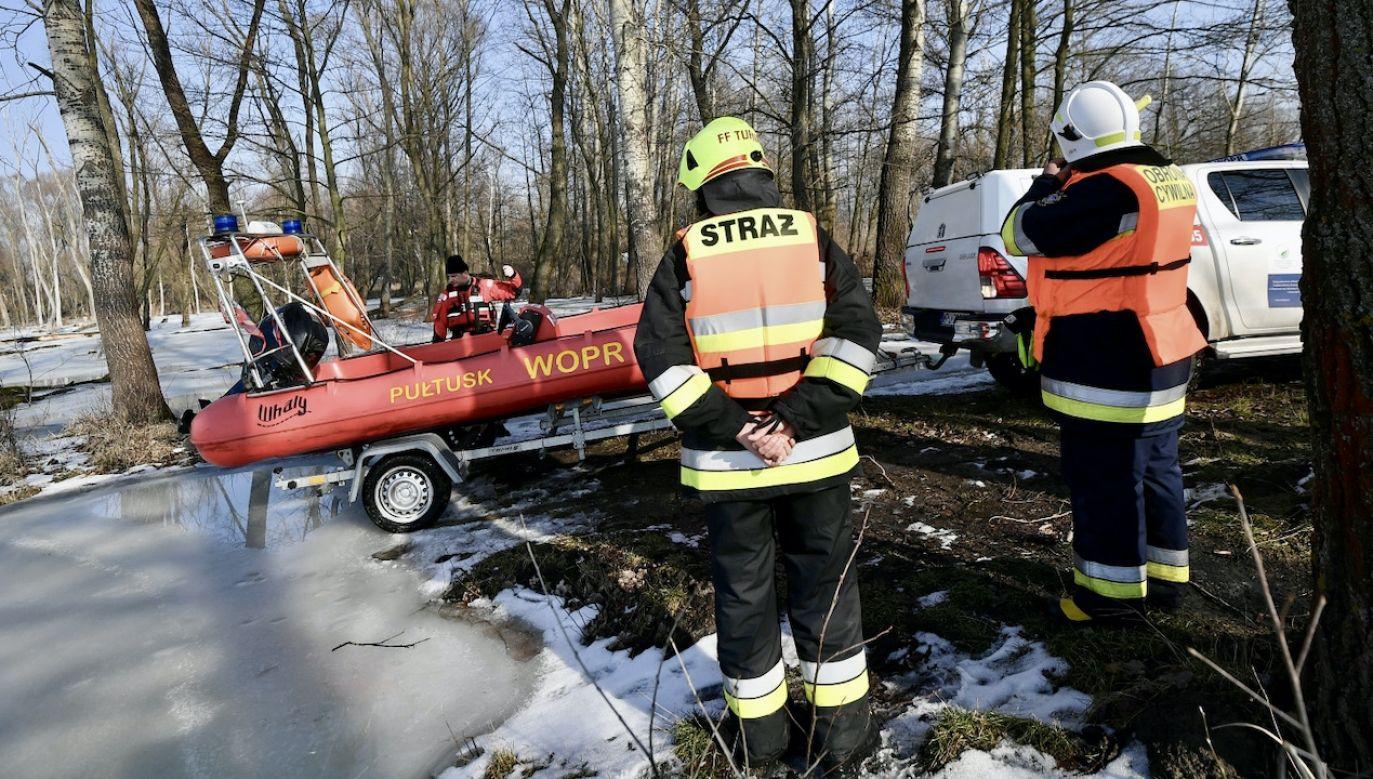 Poszukiwania ciała Jana Lityńskiego wznowiono o godz. 8 rano (fot. PAP/M.Obara)