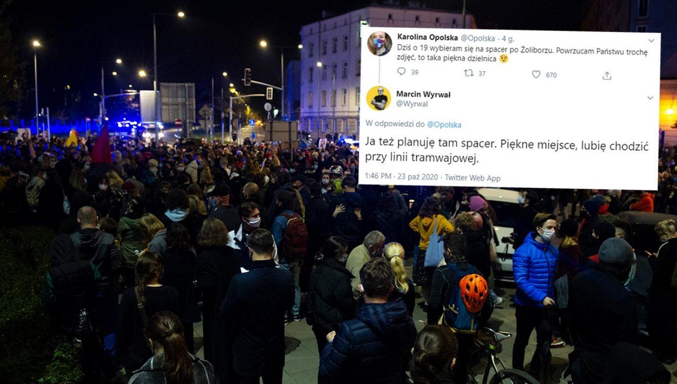 """Napisali, że wybierają się """"na spacer po Żoliborzu"""" (fot. Aleksander Kalka/NurPhoto via Getty Images)"""