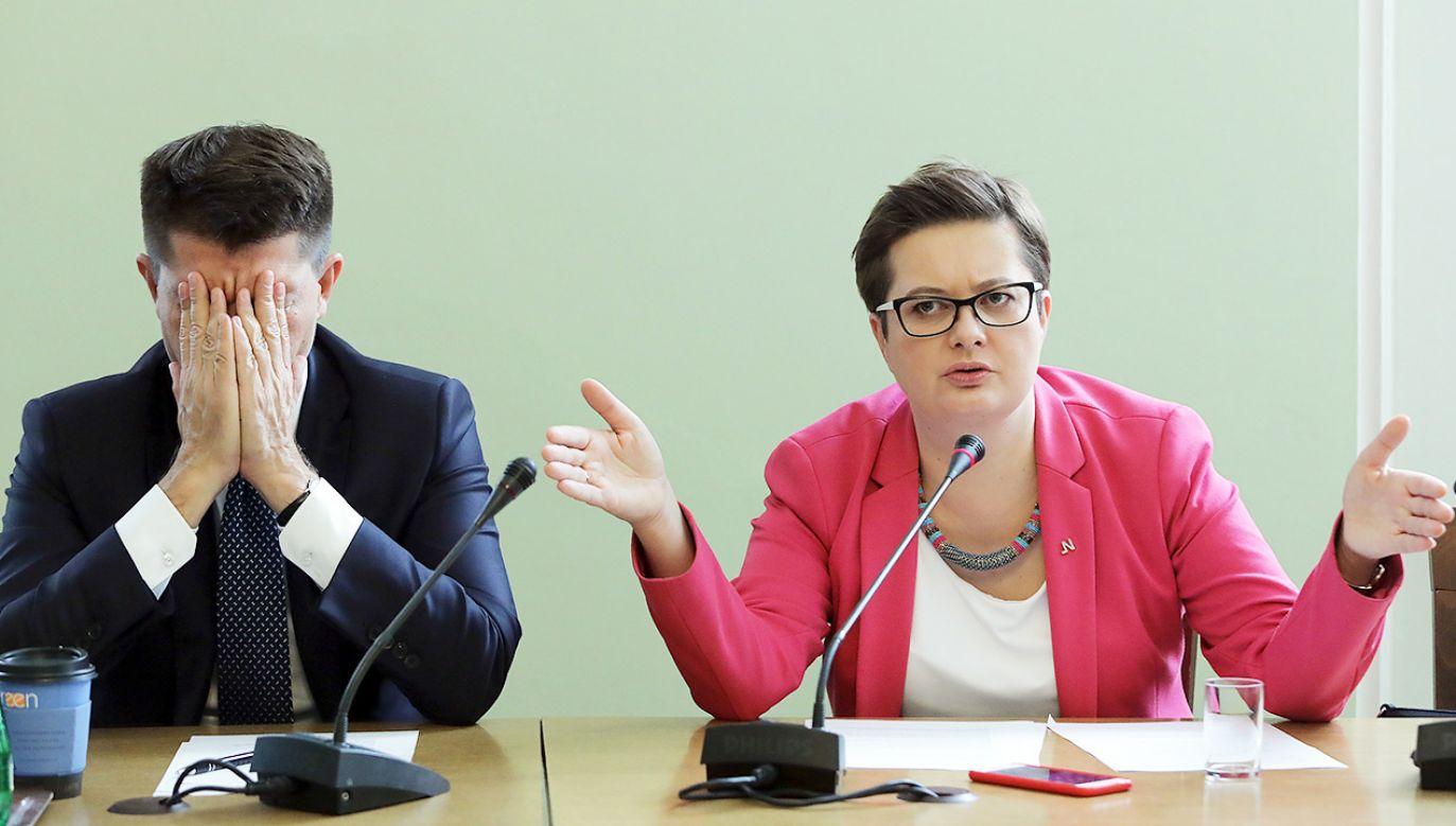 Byli liderzy Nowoczesnej przerzucają się odpowiedzialnością (fot. arch.PAP/Tomasz Gzell)