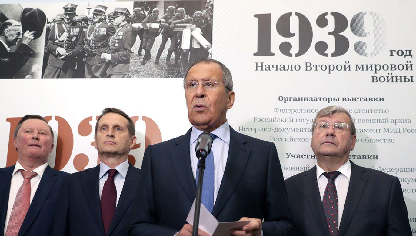 Echa otwarcia moskiewskiej wystawy dotyczącej II wojny światowej (fot. Vyacheslav Prokofyev\TASS via Getty Images)