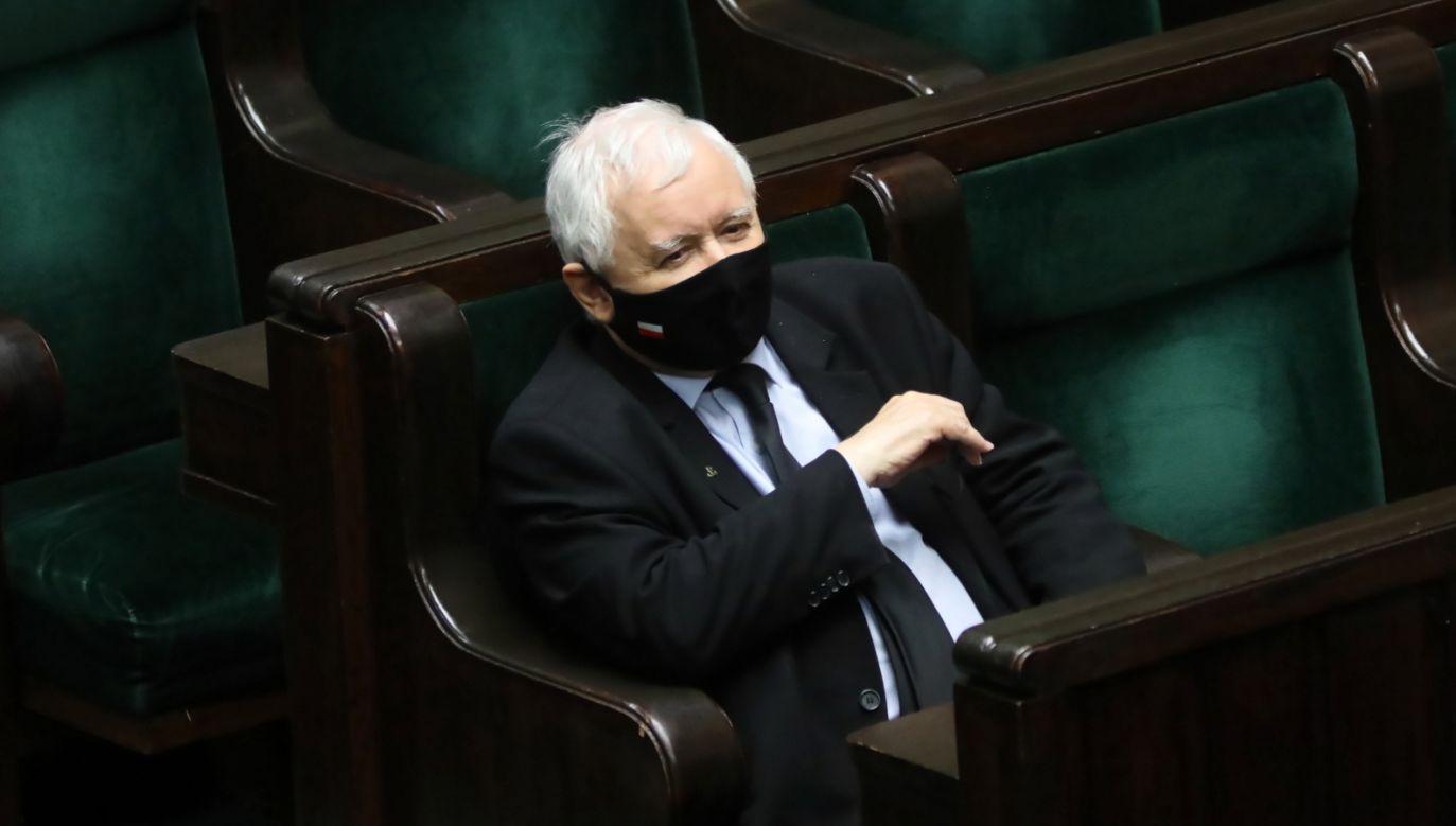 Prezes PiS Jarosław Kaczyński zabrał głos ws. aborcji (fot. PAP/Leszek Szymański)