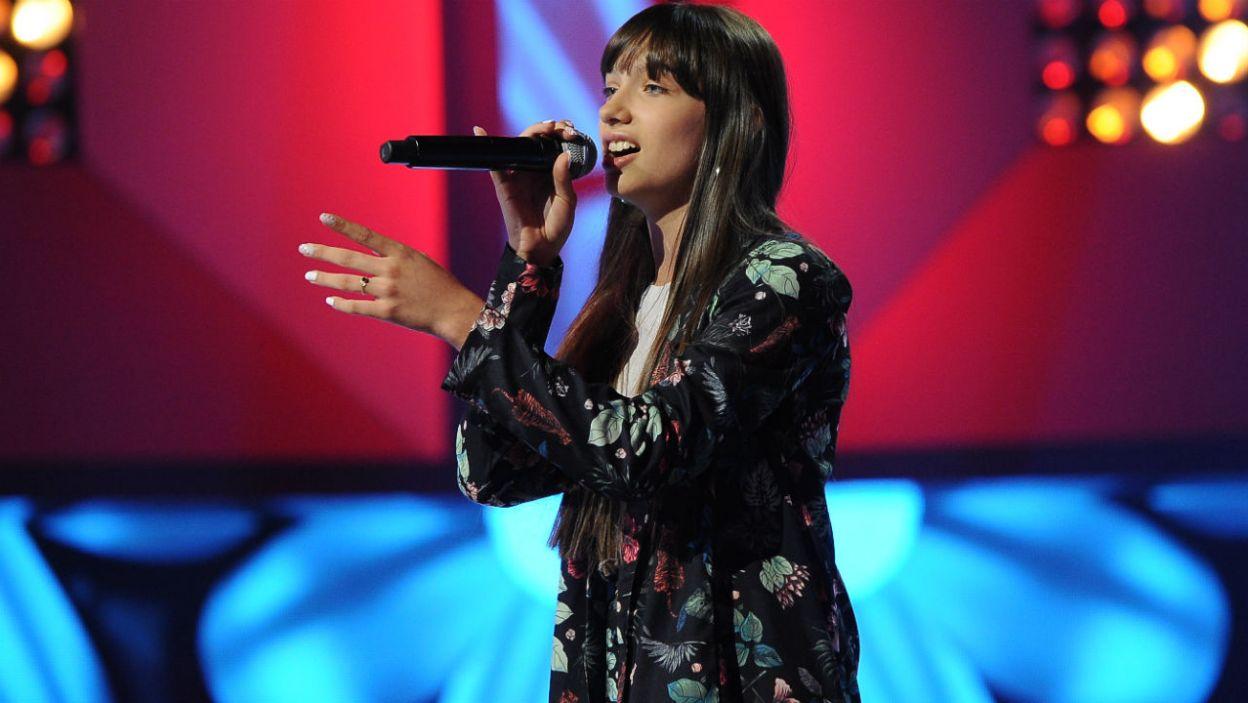 Wiktoria Gabor w programie śpiewała utwór zespołu Blue Cafe (fot. TVP)