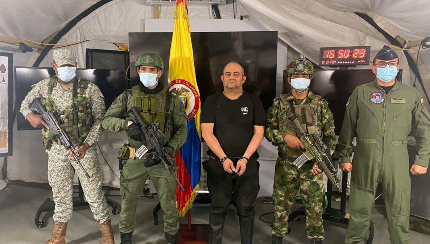 """Schwytanie """"Otoniela"""" to ogromny sukces w walce z kartelami narkotykowymi (fot. PAP/EPA/Colombian Presidency HANDOUT)"""