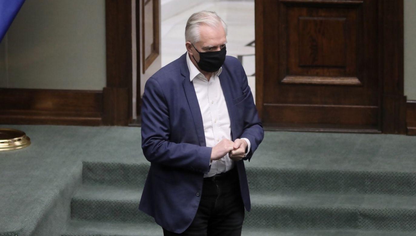 Stanowisko partii Jarosława Gowina opublikowano w mediach społecznościowych (fot. PAP/Leszek Szymański)