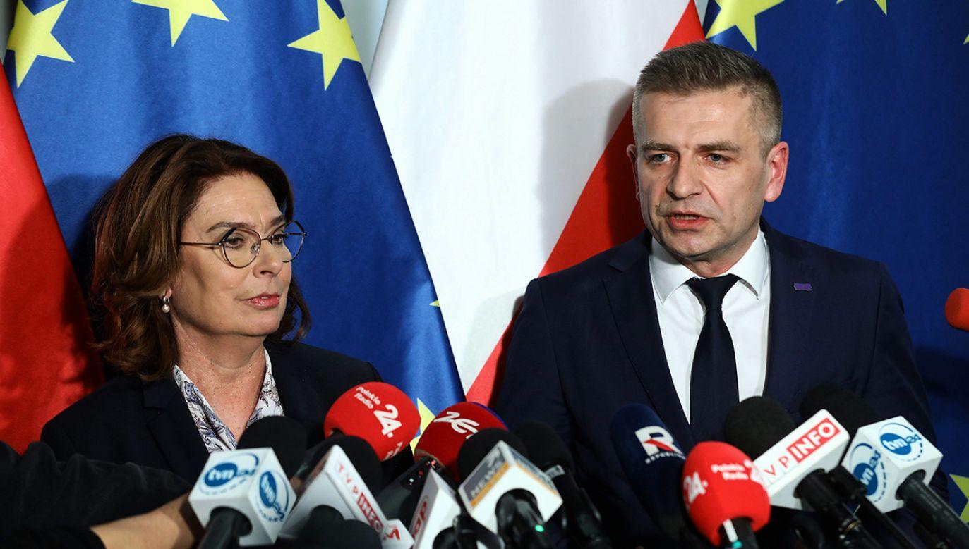 – Ruszamy z panią marszałek w kampanię – poinformował Bartosz Arłukowicz (fot. PAP/Rafał Guz)