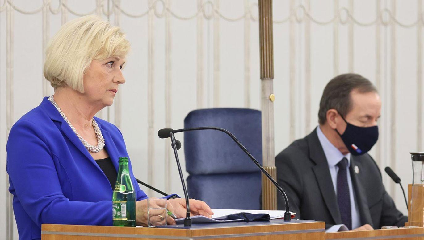 Przesłuchanie Lidii Staroń w Senacie (fot. PAP/Leszek Szymański)