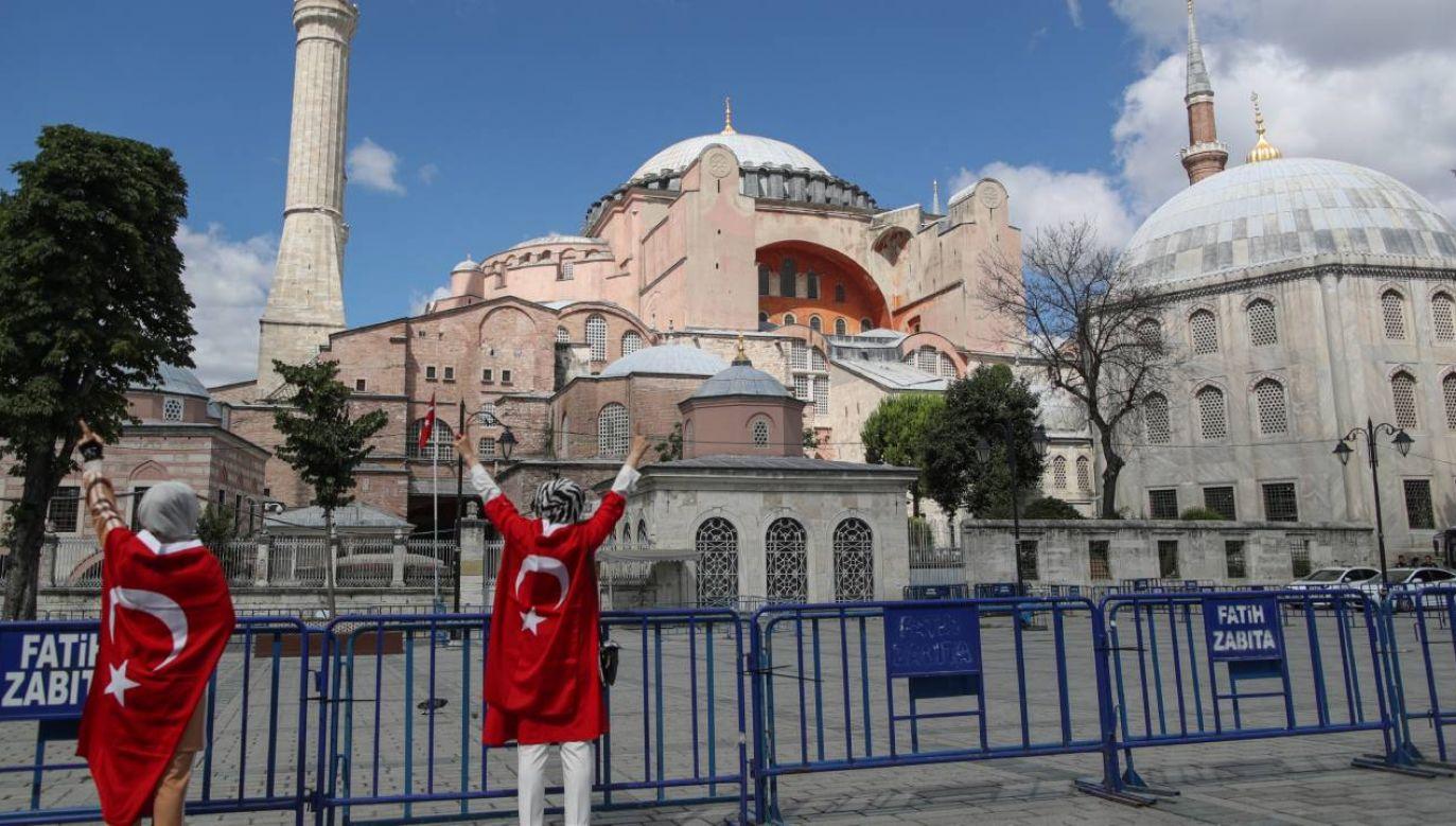 Muzeum Hagia Sophia będzie przekształcone w meczet (fot. PAP/EPA/ERDEM SAHIN)