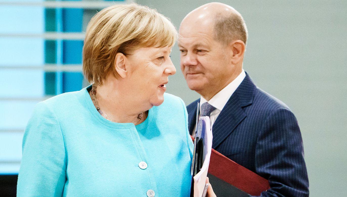 Jeśli SPD wygra wrześniowe wybory, następcą Angeli Merkel zostanie Olaf Scholz (fot. Clemens Bilan Pool/Getty Images)