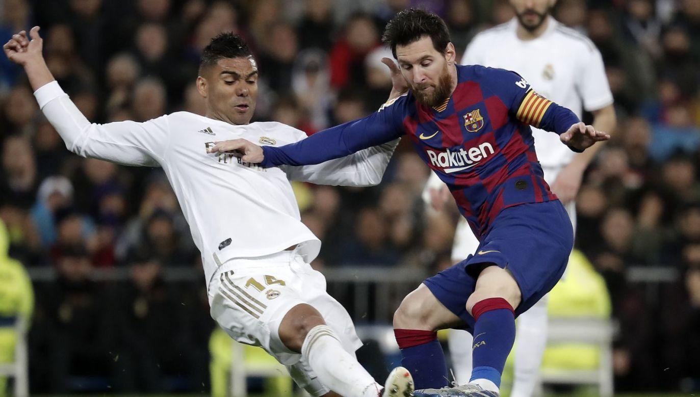 Casemiro i Leo Messi (fot. Getty Images)