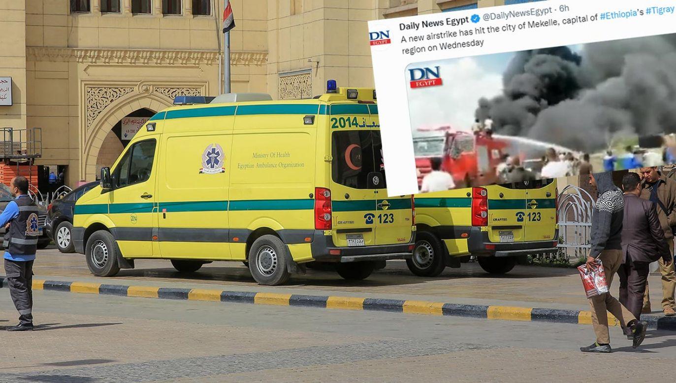 Do katastrofy drogowej doszło na przedmieściach Kairu (fot. Ahmed Al Sayed/Anadolu Agency/Getty Images)