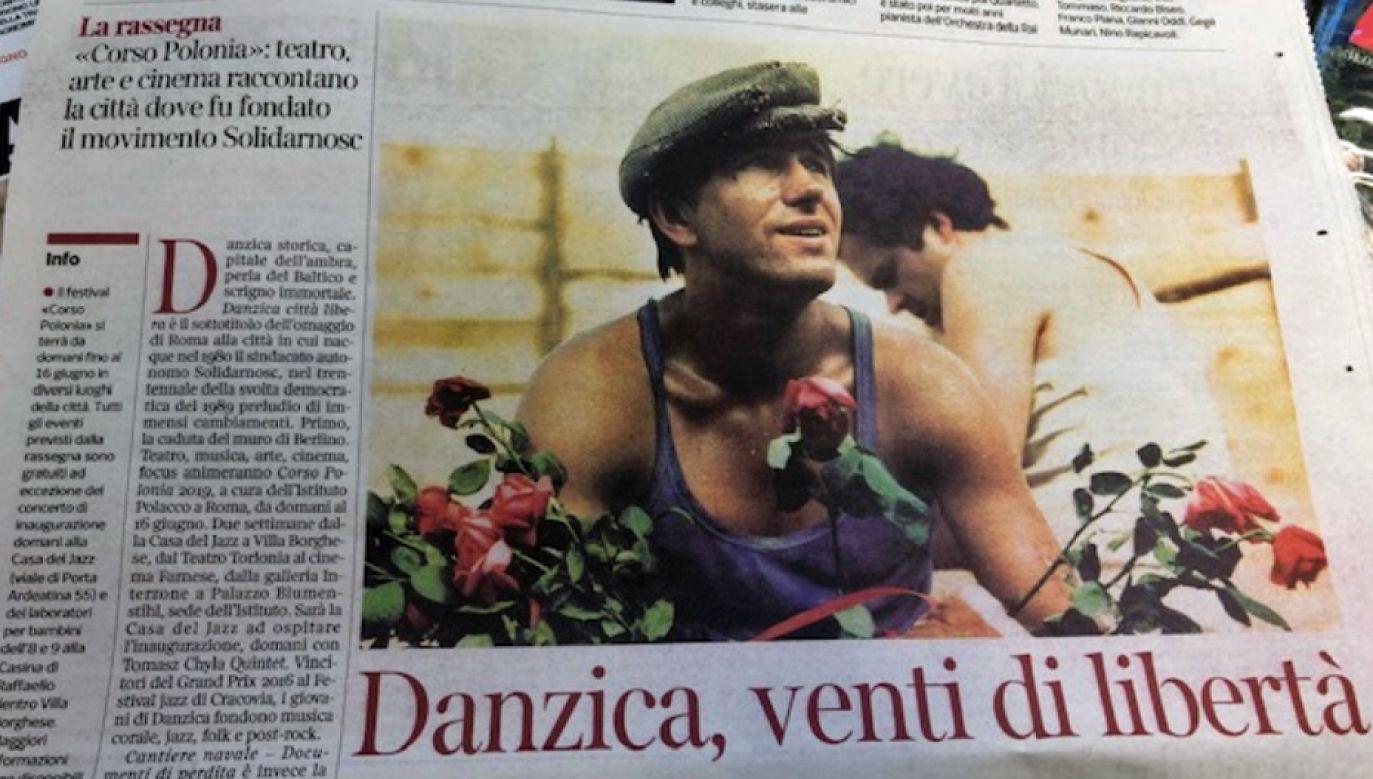 O rozpoczynającym się festiwalu informują włoskie media (fot. Twitter/PLinItaly)