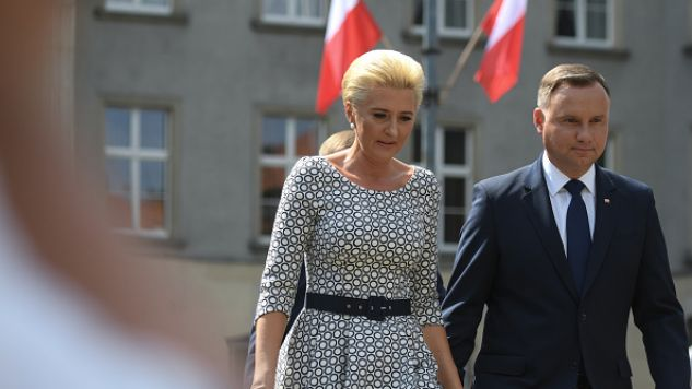 Para prezydencka w Katowicach (fot. Getty Images/NurPhoto)