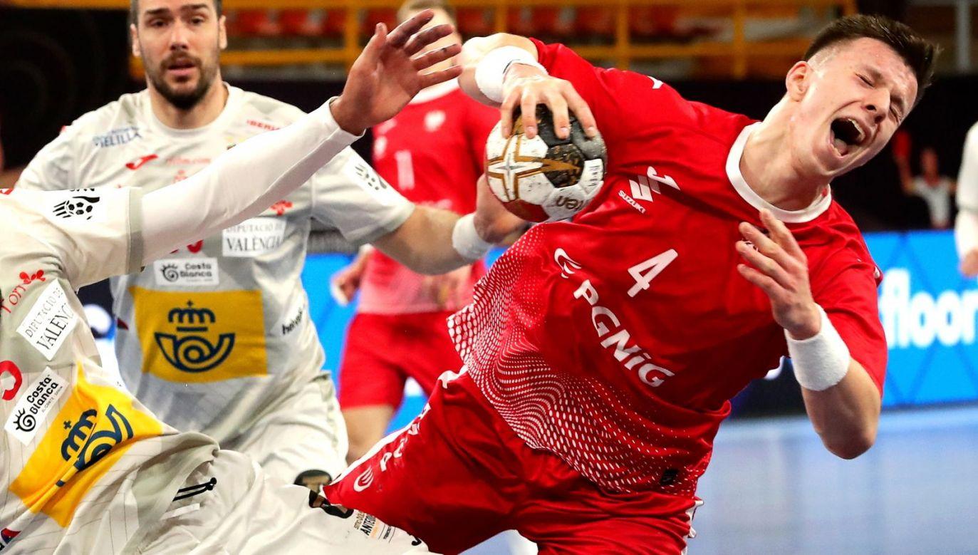 Michał Olejniczak w sobotnim meczu z Węgrami skręcił kostkę lewej nogi (fot. PAP / EPA)