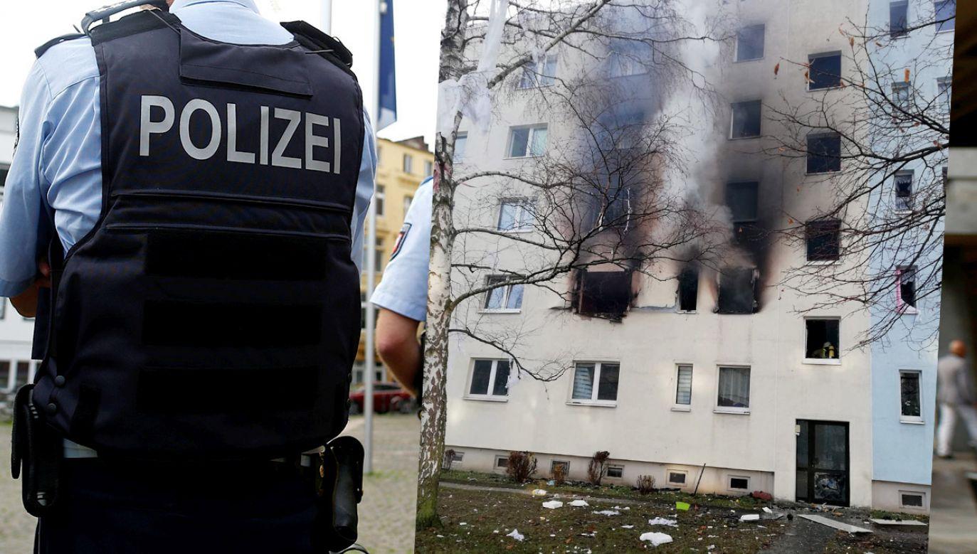Nie podano, co było przyczyną eksplozji (fot. REUTERS/Thilo Schmuelgen/PAP/EPA/GERMAN POLICE)
