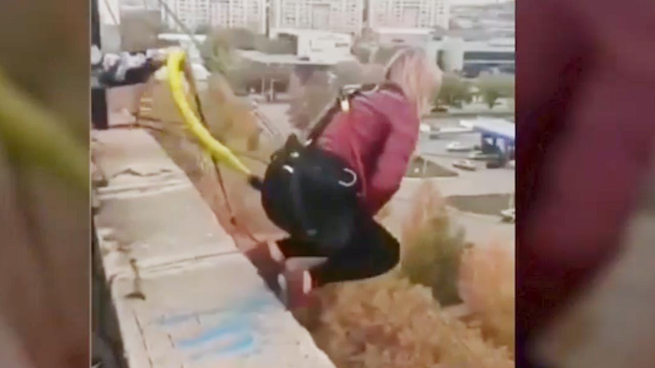 Kobieta spadła z wysokości 25 m (fot. You Tube)