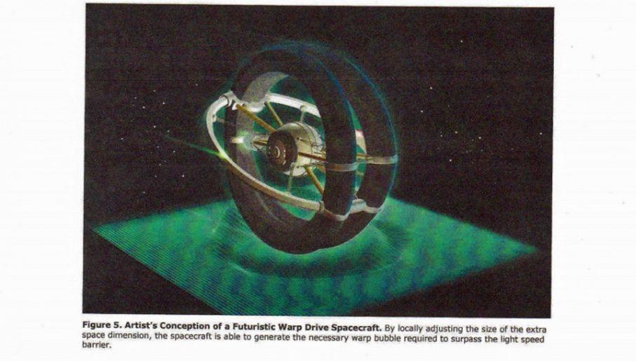 W raporcie analizowano możliwości napędu nadświętlnego Warp (fot. Defense Intelligence Agency)