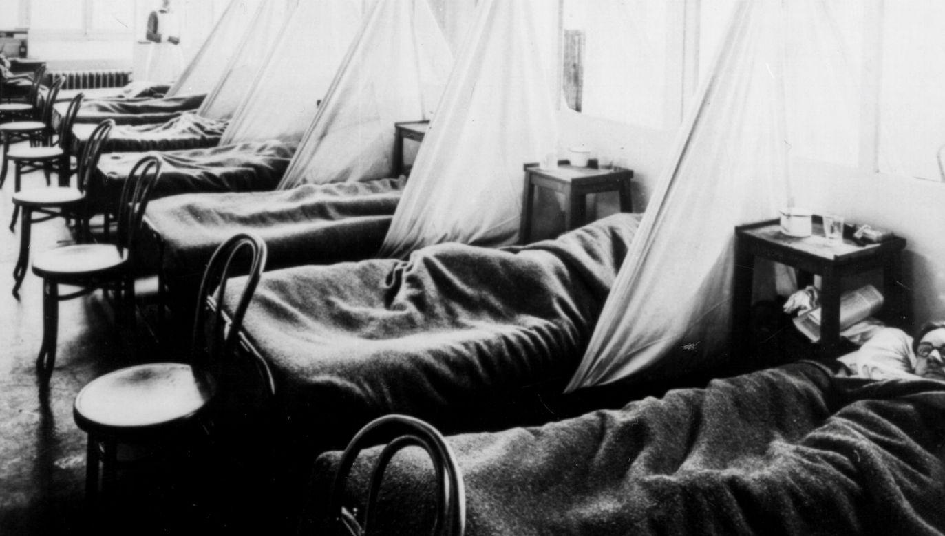 Szacuje się, że na grypę hiszpankę mogło zachorować nawet 30 proc. ludzi na świecie (fot. arch.PAP/Newscom)