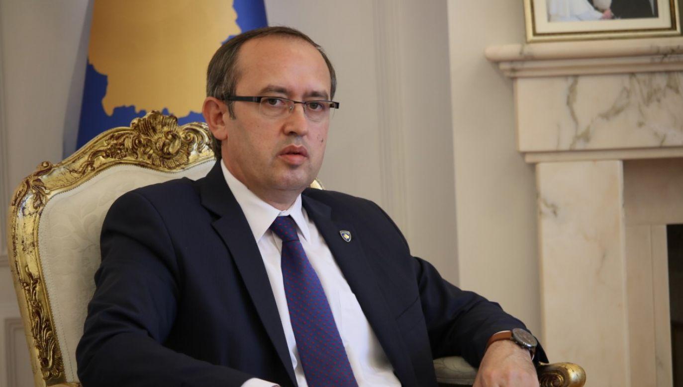 Premier Avdullah Hoti pełni obowiązki od czerwca br. (fot. Erkin Keci/Anadolu Agency via Getty Images)