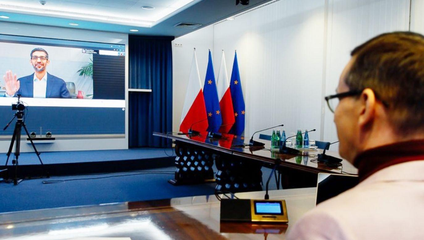 Mateusz Morawiecki rozmawiał z szefem Google'a (fot. Krystian Maj/KPRM)