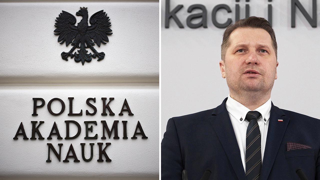 Minister Przemysław Czarnek: Nie ma mowy o likwidacji PAN (fot. Forum/Gazeta Polska/Maciej Luczniewski; PAP/Mateusz Mrek)
