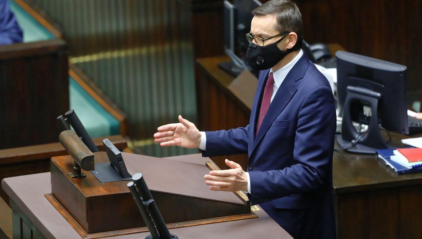 Polish PM Mateusz Morawiecki. Photo: PAP/Rafał Guz