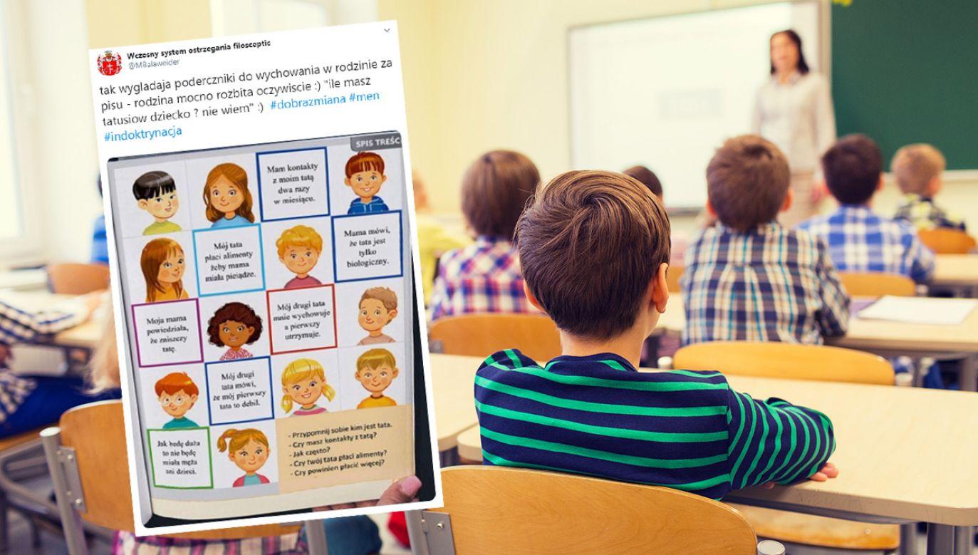 Na oryginalnym obrazku z podręcznika dzieci chwalą się swoimi umiejętnościami (fot. Shutterstock/Syda Productions)