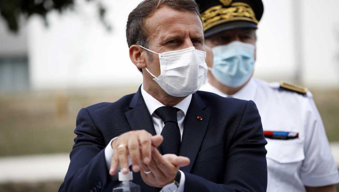 Prezydent Francji Emmanuel Macron (fot. PAP/EPA/YOAN VALAT / POOL)