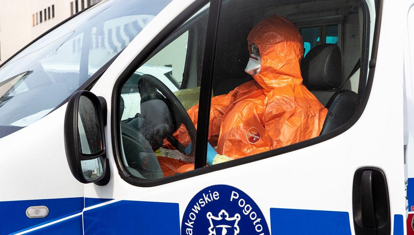 Epidemia koronawirusa trwa (fot. Dominika Zarzycka/NurPhoto via Getty Images)