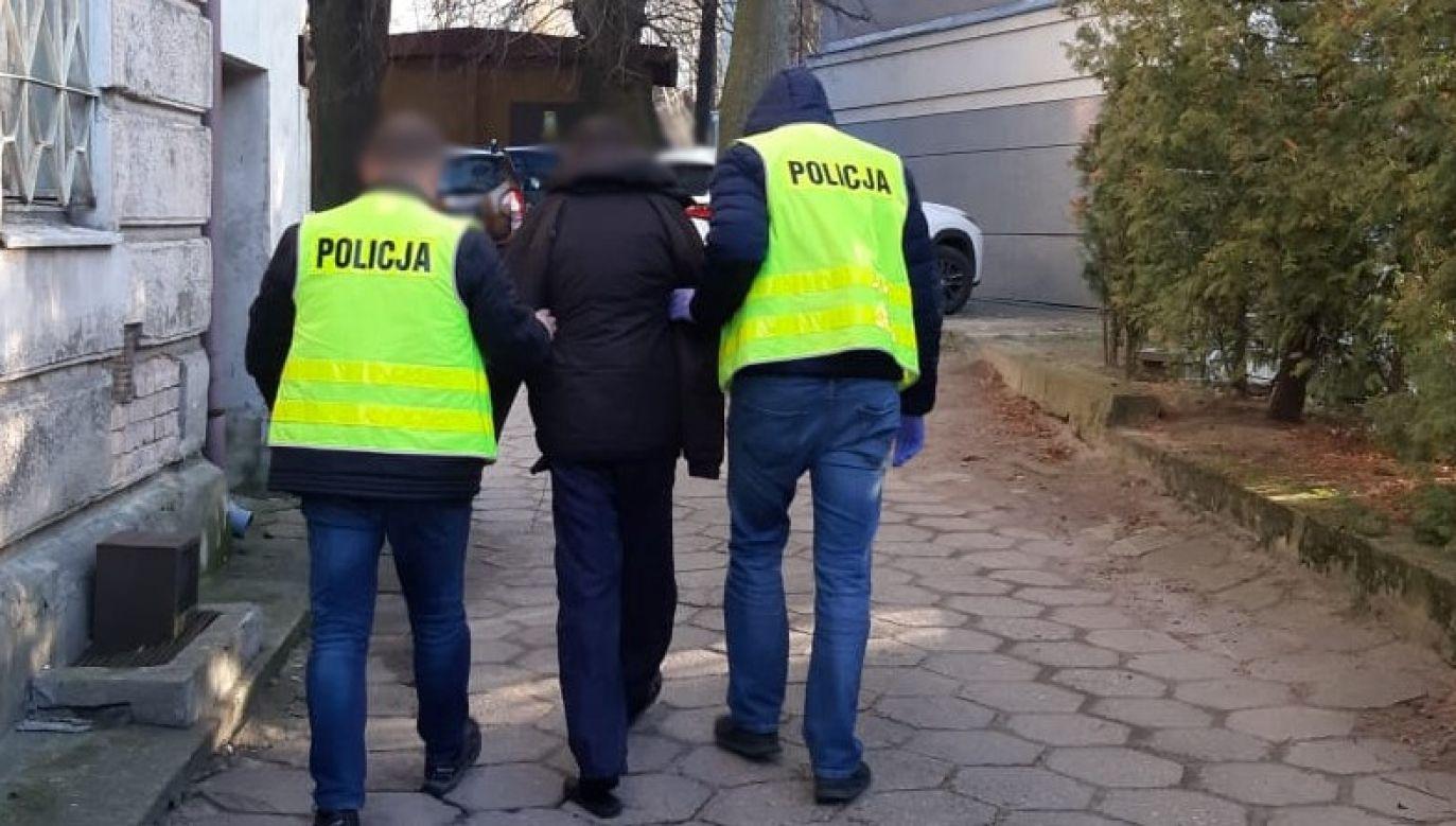 32-latek twierdził, że chciał tylko przestraszyć ratowników (fot. olsztyn.policja.gov.pl)