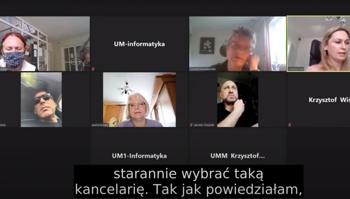 """""""Taka sytuacja jest niedopuszczalna"""" (fot. yt/Milanówek Miasto-Ogród)"""