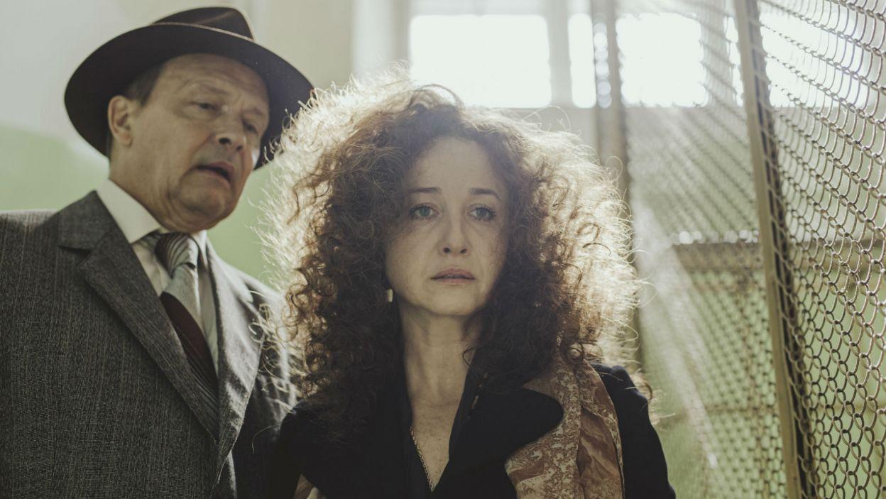 W spektaklu wystąpili Gabriela Muskała – jako Weronika, oraz Jan Frycz w roli Eleganckiego Pana (fot. Stanisław Loba)