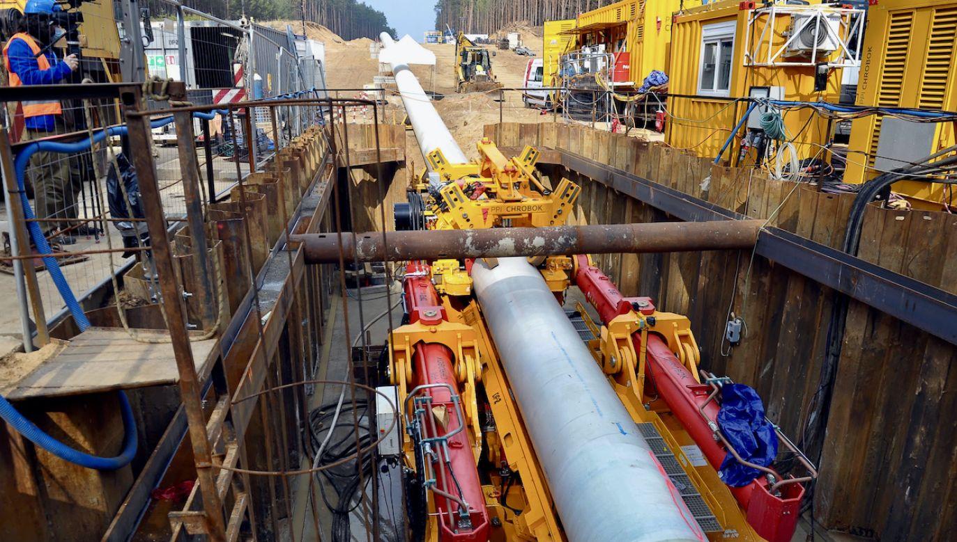 Budowa części lądowej gazociągu Baltic Pipe na odcinku Goleniów - Lwówek (fot. arch.PAP/Marcin Bielecki)