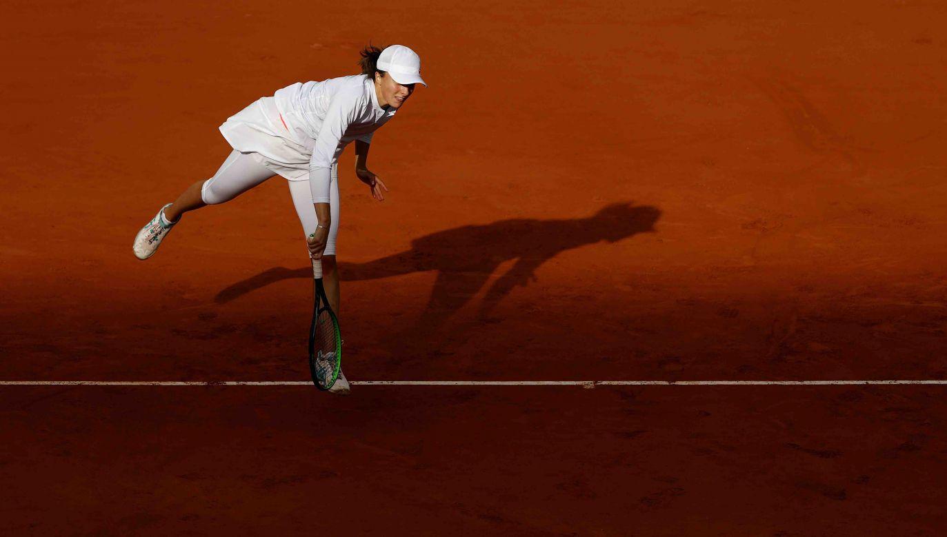Iga Świątek w finale French Open zmierzy się z zawodniczką z USA Sofią Kenin (fot. Clive Brunskill/Getty Images)