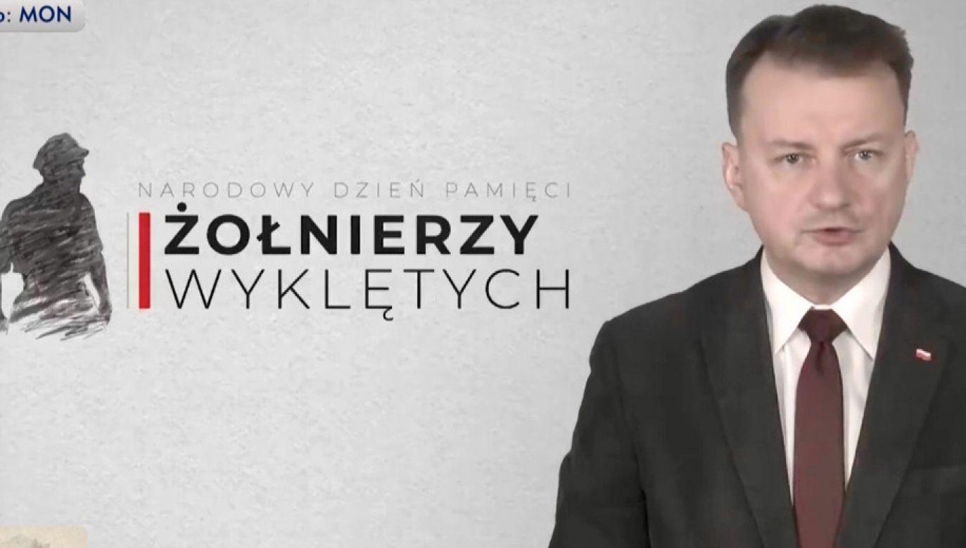 Min. Mariusz Błaszczak (fot. MON)