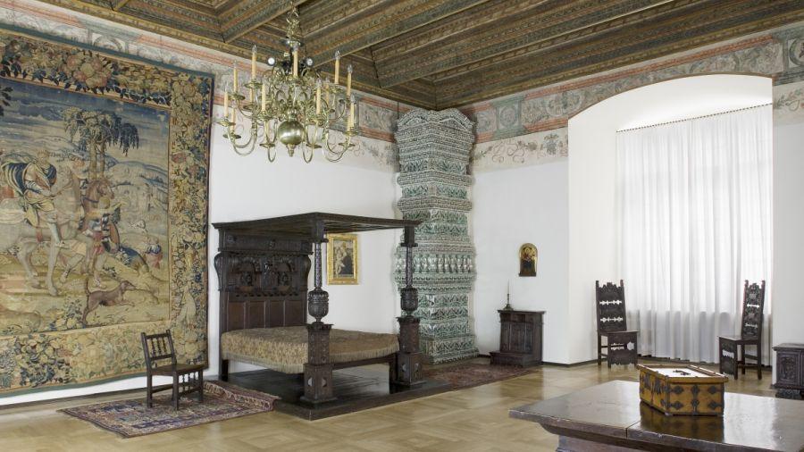 Prywatne Apartamenty Królewskie, sypialnia gości królewskich. Fot. Zamek Królewski na Wawelu