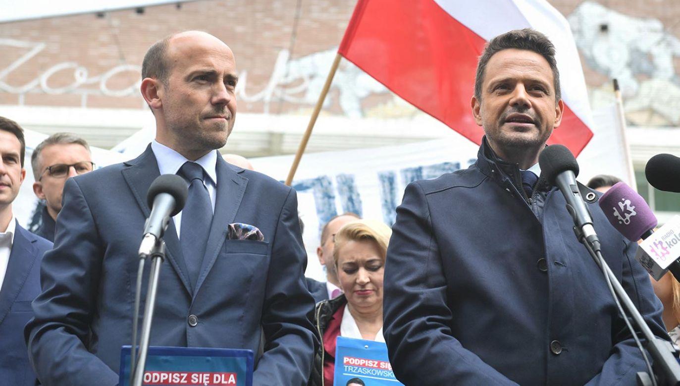 Liderzy PO nie chcą oceniać zadym z udziałem Antify w Stanach Zjednoczonych (fot. PAP/Radek Pietruszka)