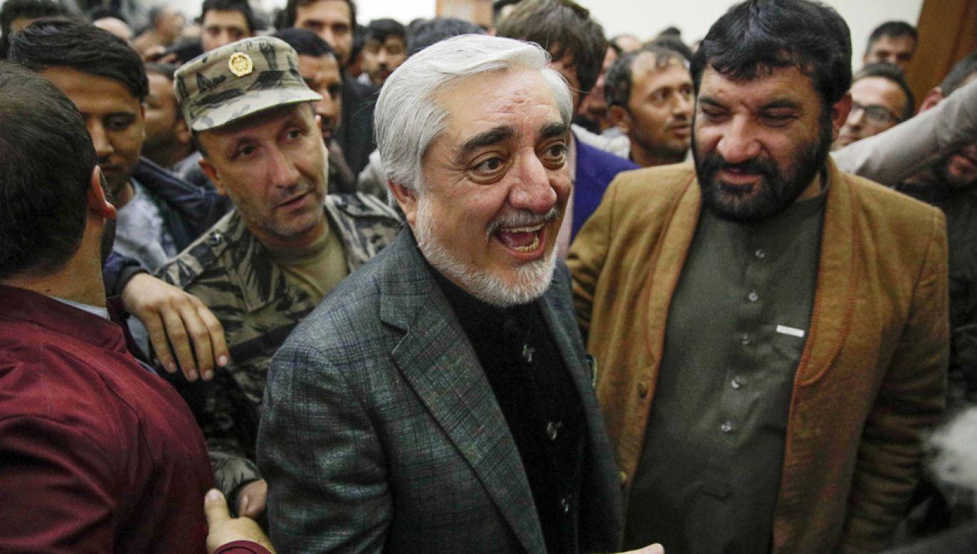 Premier Abdullah Abdullah twierdzi, że to on wygrał wybory prezydenckie (fot. arch.PAP/EPA/HEDAYATULLAH AMID)