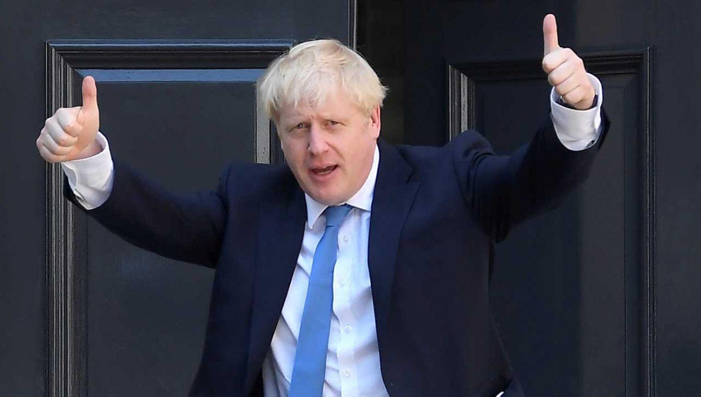 Johnson, który był zdecydowanym faworytem komentatorów i bukmacherów od pierwszych dni walki o schedę po May (fot. PAP/Tomasz Gzell)