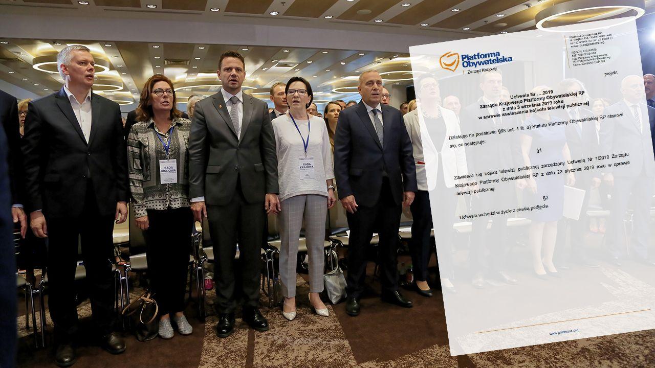 Uchwałę o bojkocie TVP Zarząd Krajowy PO podjął 22 stycznia br. (fot. arch. PAP/Wojciech Olkuśnik)