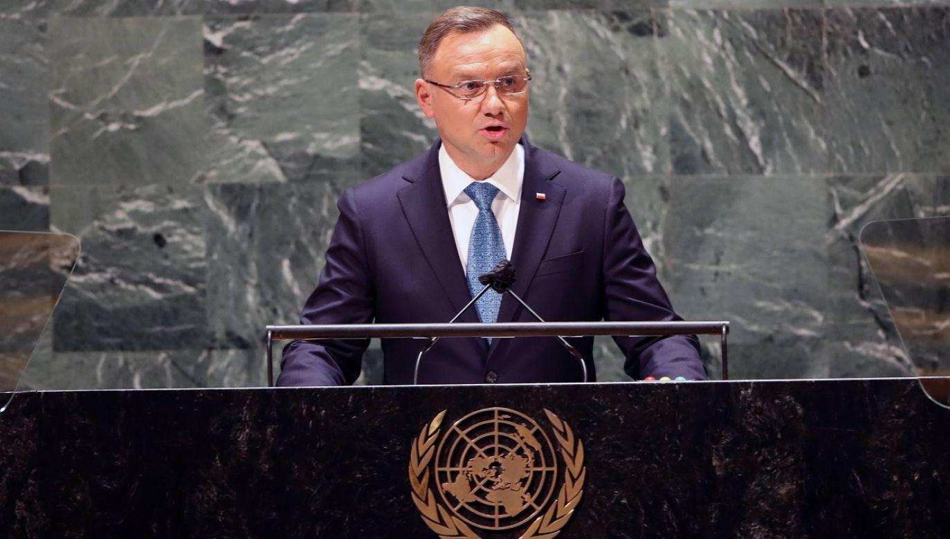 Prezydent Andrzej Duda mówił o hybrydowym ataku Białorusi przeciw Polsce (fot. PAP/EPA/Spencer Platt)