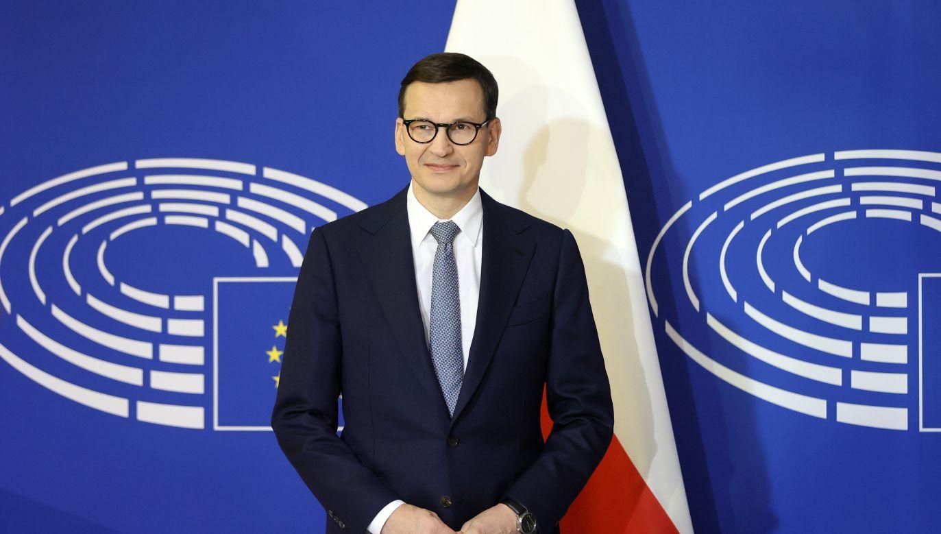 Premier Mateusz Morawiecki w Strasburgu (fot. PAP/EPA/RONALD WITTEK / POOL)