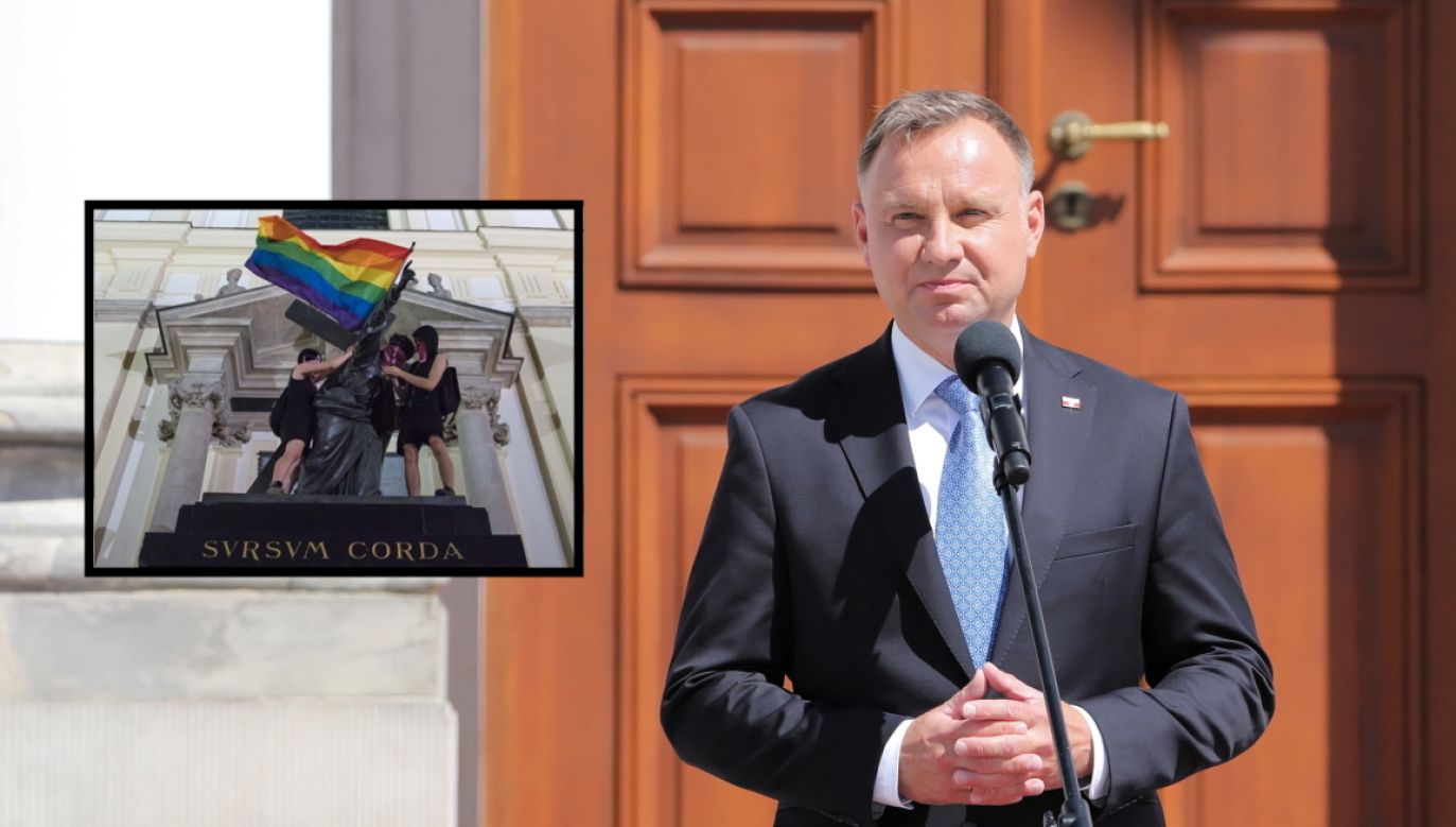 Prezydent RP Andrzej Duda (fot. Twitter/Sebastian Kaleta)