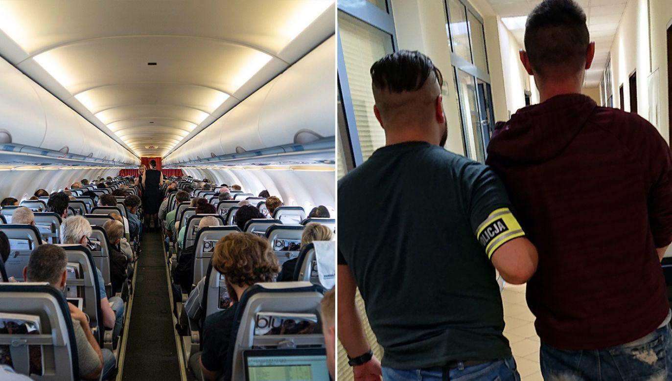 Do zatrzymania doszło chwilę po wylądowaniu samolotu (fot. Nicolas Economou/NurPhoto via Getty Images; policja.pl)